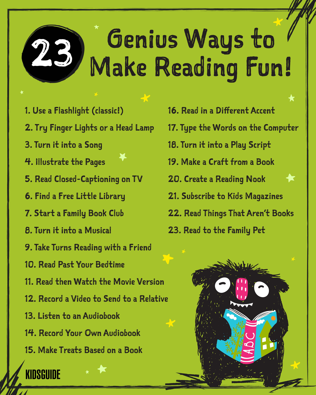 23 Genius Ways to Make Reading Fun for Kids! - Kidsguide ...